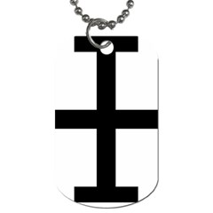Cross Potent  Dog Tag (one Side) by abbeyz71
