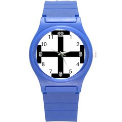 Cross Potent  Round Plastic Sport Watch (s) by abbeyz71