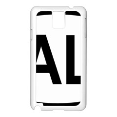 Albania Country Code  Samsung Galaxy Note 3 N9005 Case (white) by abbeyz71