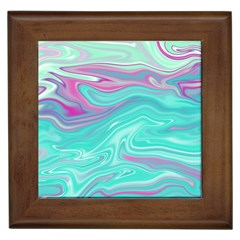 Iridescent Marble Pattern Framed Tiles