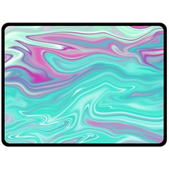 Iridescent Marble Pattern Double Sided Fleece Blanket (large)  by tarastyle