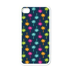 Funny Palm Tree Pattern Apple Iphone 4 Case (white) by tarastyle