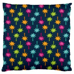 Funny Palm Tree Pattern Large Cushion Case (two Sides) by tarastyle