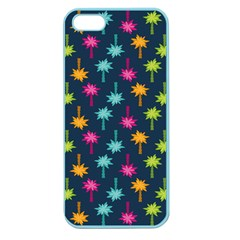 Funny Palm Tree Pattern Apple Seamless Iphone 5 Case (color) by tarastyle