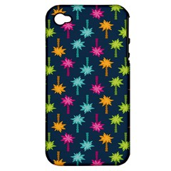 Funny Palm Tree Pattern Apple Iphone 4/4s Hardshell Case (pc+silicone) by tarastyle