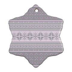 Pattern Snowflake Ornament (two Sides) by Valentinaart