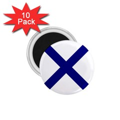 Saint Andrew s Cross 1 75  Magnets (10 Pack)  by abbeyz71