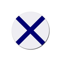 Saint Andrew s Cross Rubber Round Coaster (4 Pack)  by abbeyz71