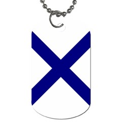 Saint Andrew s Cross Dog Tag (one Side) by abbeyz71