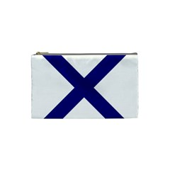 Saint Andrew s Cross Cosmetic Bag (small)  by abbeyz71