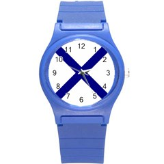 Saint Andrew s Cross Round Plastic Sport Watch (s) by abbeyz71