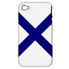 Saint Andrew s Cross Apple Iphone 4/4s Hardshell Case (pc+silicone) by abbeyz71