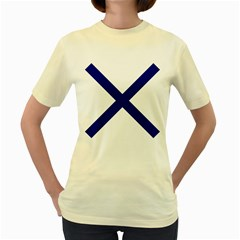 Saint Andrew s Cross Women s Yellow T-shirt by abbeyz71
