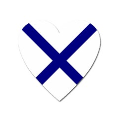 Saint Andrew s Cross Heart Magnet by abbeyz71