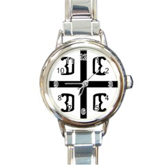 Serbian Cross Round Italian Charm Watch by abbeyz71