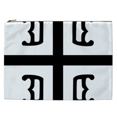 Serbian Cross Cosmetic Bag (xxl)  by abbeyz71