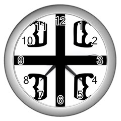 Serbian Cross Wall Clocks (silver)  by abbeyz71