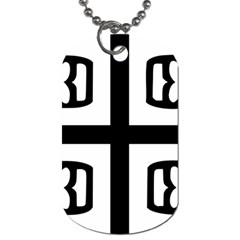 Serbian Cross Dog Tag (one Side) by abbeyz71