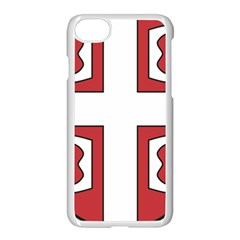 Serbian Cross Shield Apple Iphone 7 Seamless Case (white) by abbeyz71