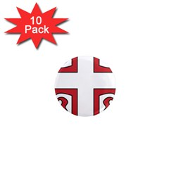 Serbian Cross Shield 1  Mini Magnet (10 Pack)