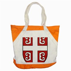 Serbian Cross Shield Accent Tote Bag by abbeyz71