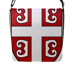 Serbian Cross Shield Flap Messenger Bag (l)  by abbeyz71