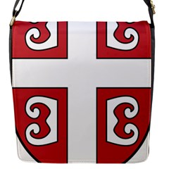 Serbian Cross Shield Flap Messenger Bag (s) by abbeyz71