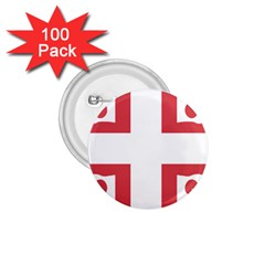 Serbian Cross  1 75  Buttons (100 Pack)  by abbeyz71
