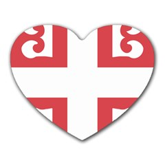 Serbian Cross  Heart Mousepads by abbeyz71
