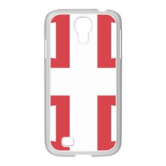 Serbian Cross  Samsung Galaxy S4 I9500/ I9505 Case (white) by abbeyz71