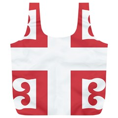 Serbian Cross  Full Print Recycle Bags (l)  by abbeyz71