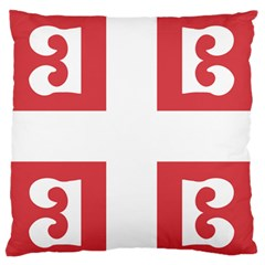 Serbian Cross  Large Flano Cushion Case (two Sides) by abbeyz71