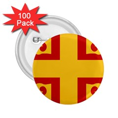 Byzantine Imperial Flag, 14th Century 2 25  Buttons (100 Pack)  by abbeyz71