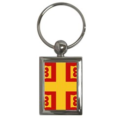 Byzantine Imperial Flag, 14th Century Key Chains (rectangle)  by abbeyz71