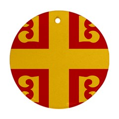Byzantine Imperial Flag, 14th Century Round Ornament (two Sides) by abbeyz71