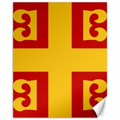 Byzantine Imperial Flag, 14th Century Canvas 11  X 14   by abbeyz71