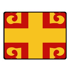 Byzantine Imperial Flag, 14th Century Fleece Blanket (small) by abbeyz71