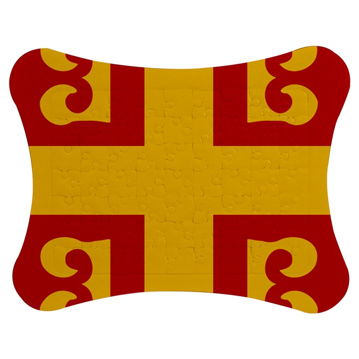 Byzantine Imperial Flag, 14th Century Jigsaw Puzzle Photo Stand (Bow)