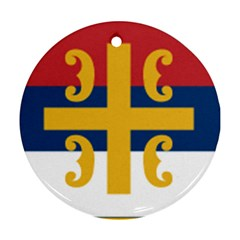 Flag Of The Serbian Orthodox Church Ornament (round)