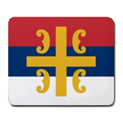 Flag Of The Serbian Orthodox Church Large Mousepads by abbeyz71