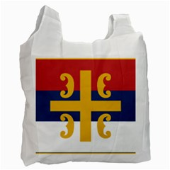 Flag Of The Serbian Orthodox Church Recycle Bag (one Side) by abbeyz71