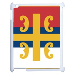 Flag Of The Serbian Orthodox Church Apple Ipad 2 Case (white) by abbeyz71