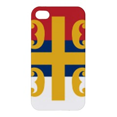 Flag Of The Serbian Orthodox Church Apple Iphone 4/4s Hardshell Case by abbeyz71