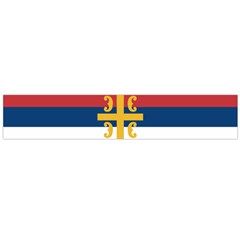 Flag Of The Serbian Orthodox Church Flano Scarf (large) by abbeyz71