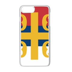 Flag Of The Serbian Orthodox Church Apple Iphone 7 Plus White Seamless Case by abbeyz71