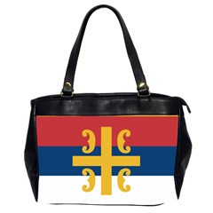 Flag Of The Serbian Orthodox Church Office Handbags (2 Sides)  by abbeyz71