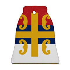 Flag Of The Serbian Orthodox Church Bell Ornament (two Sides) by abbeyz71