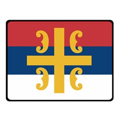 Flag Of The Serbian Orthodox Church Double Sided Fleece Blanket (small)  by abbeyz71