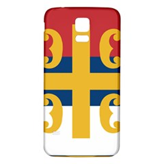 Flag Of The Serbian Orthodox Church Samsung Galaxy S5 Back Case (white) by abbeyz71