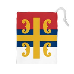 Flag Of The Serbian Orthodox Church Drawstring Pouches (large)  by abbeyz71